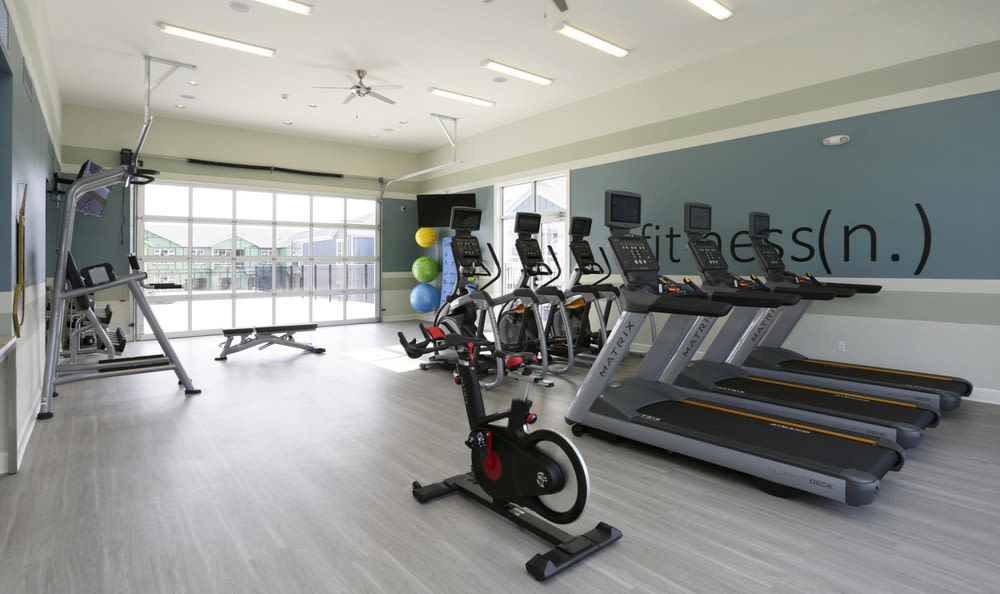 Enjoy our fitness center at Springs at Knapp's Crossing in Grand Rapids