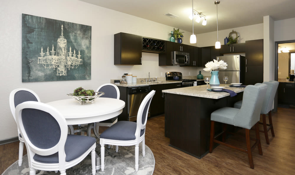 Modern kitchen at Springs at Knapp's Crossing in Grand Rapids