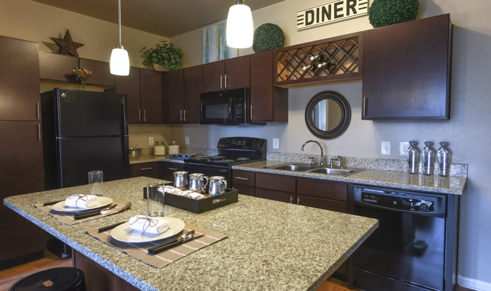 Modern kitchen at Springs at South Elgin in South Elgin