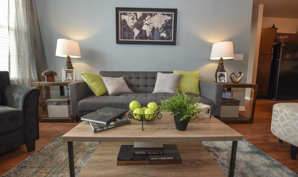 Living room at Springs at South Elgin