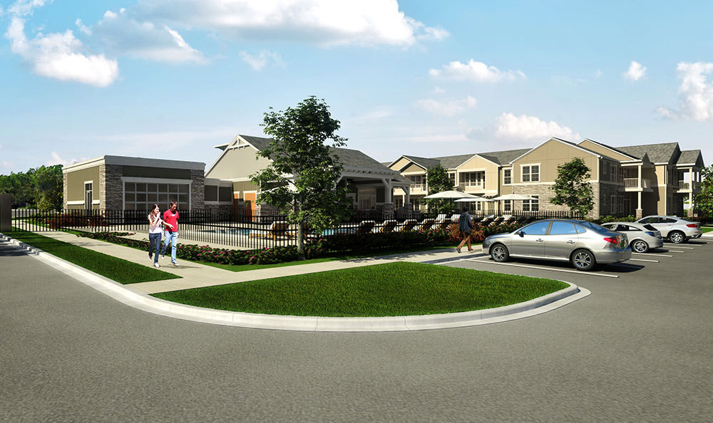 Exterior Rendering At Springs at 2534 In Johnstown