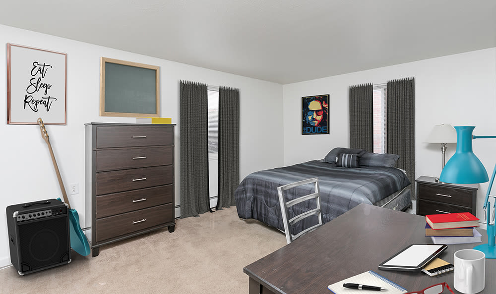 Bedroom at Brockport Crossings Apartments & Townhomes in Brockport, NY