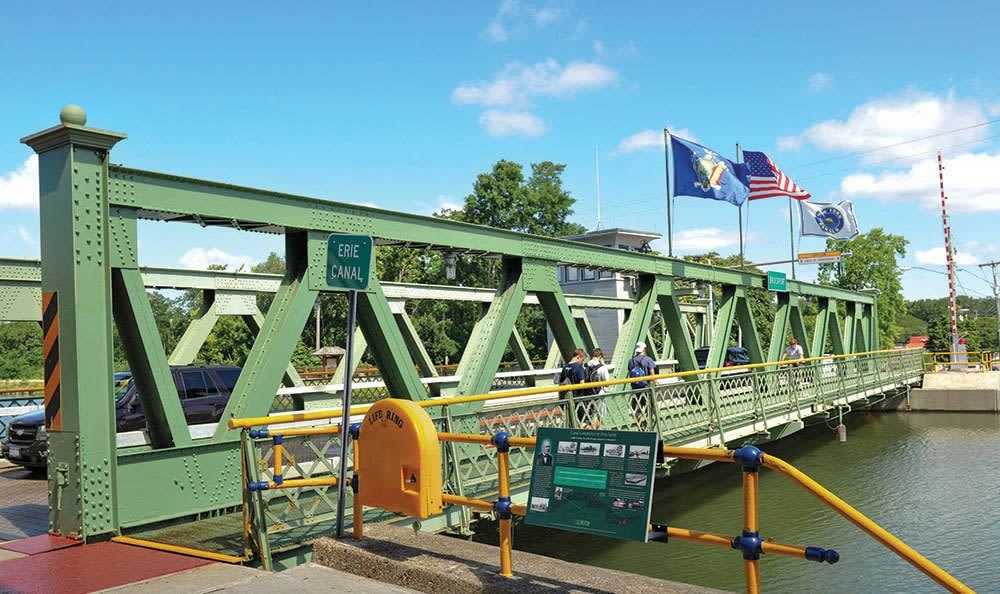 A bridge in Brockport