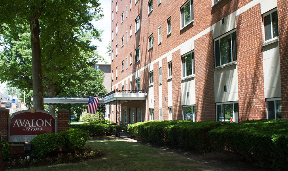 Exterior view of apartments at Avalon Arms Apartments in Avalon
