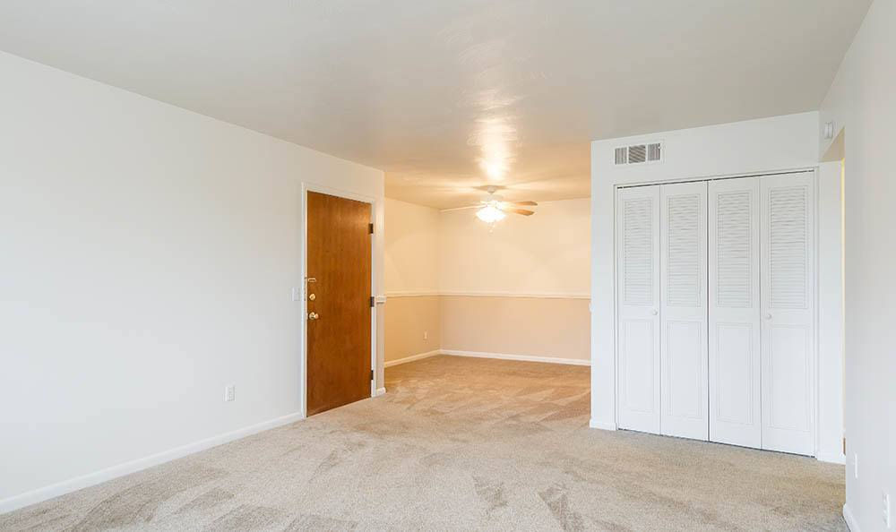 Open floor plan space at Imperial North Apartments home in Rochester, NY