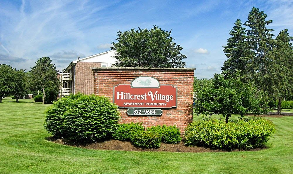 Signage at Hillcrest Village in Niskayuna, NY