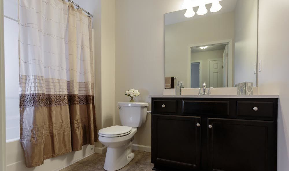 Bathroom at Auburn Creek Apartments home