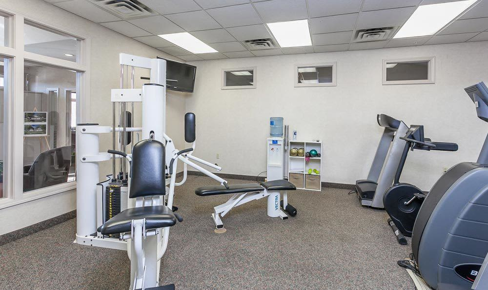 Fitness center at CenterPointe Apartments and Townhomes in Canandaigua, NY