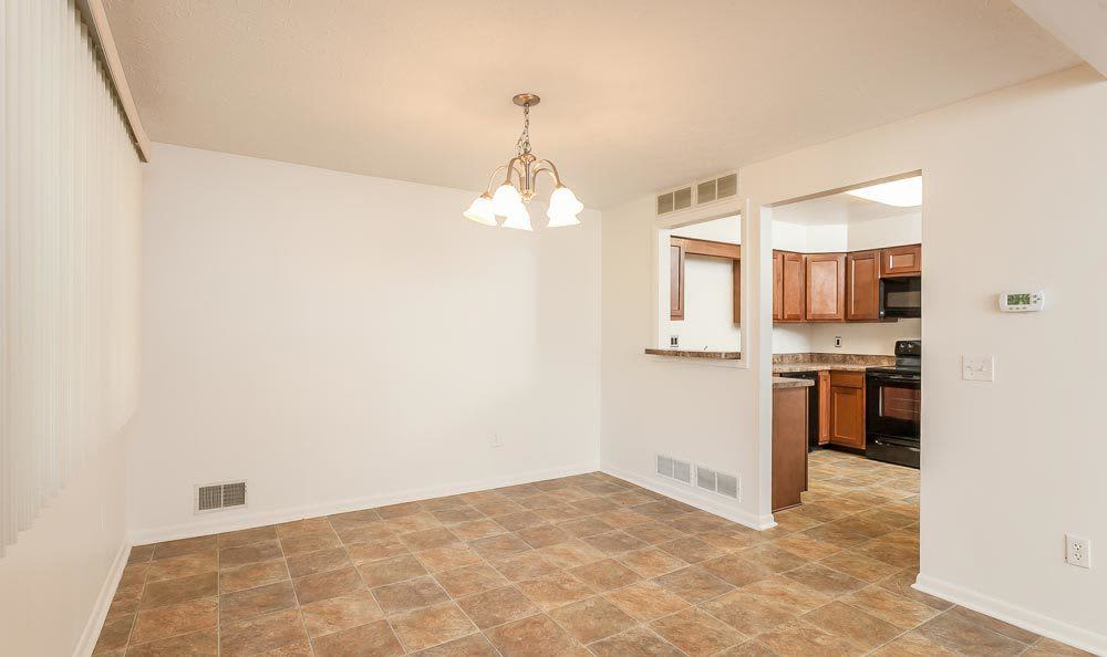 CenterPointe Apartments and Townhomes open floor plan in Canandaigua, NY