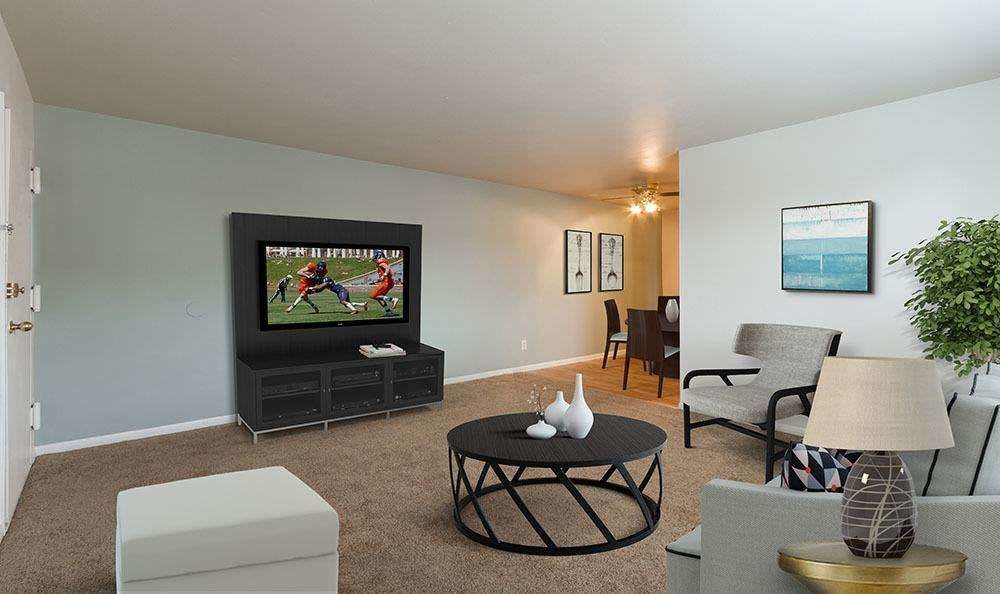 Living room at Orchard Estates in Mattydale