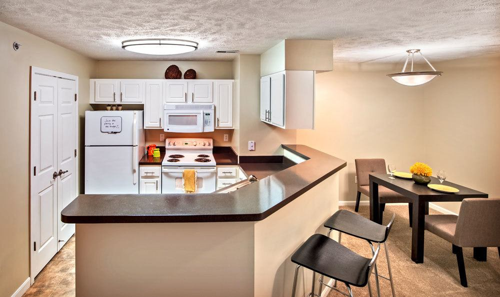 Fully equipped kitchen at Waterford Nevillewood Apartments