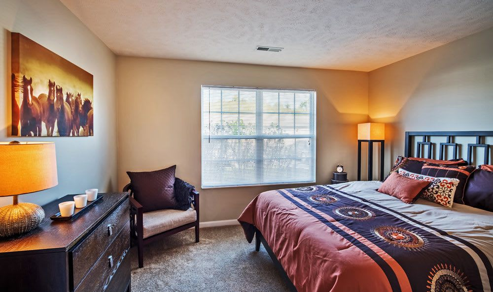 Spacious bedroom at Waterford Nevillewood Apartments