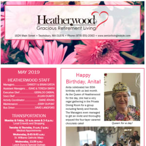 February Heatherwood Gracious Retirement Living newsletter