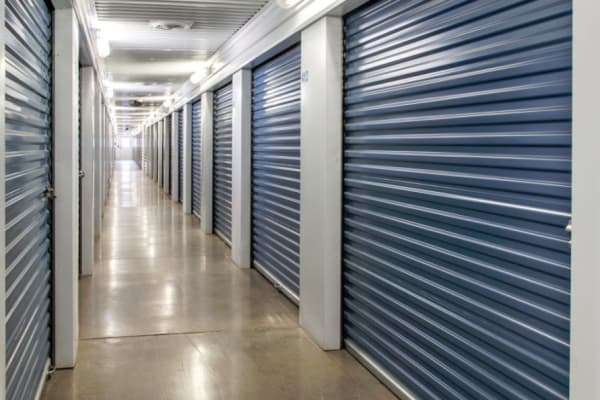 Row of storage units at Another Attic Self-Storage in Amarillo, Texas