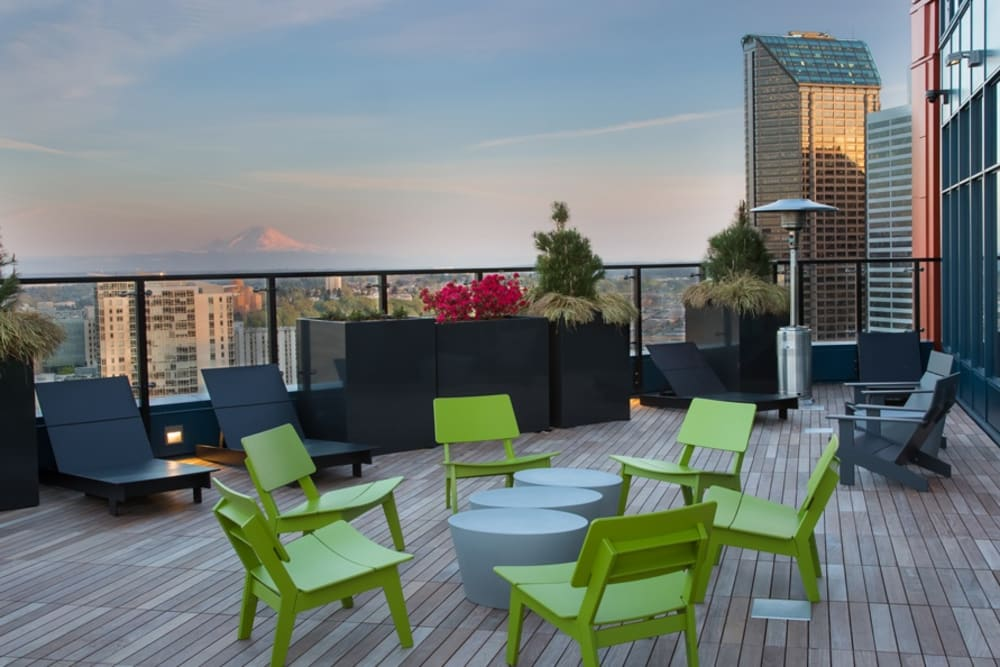 Outdoor lounge at Cielo in Seattle, Washington