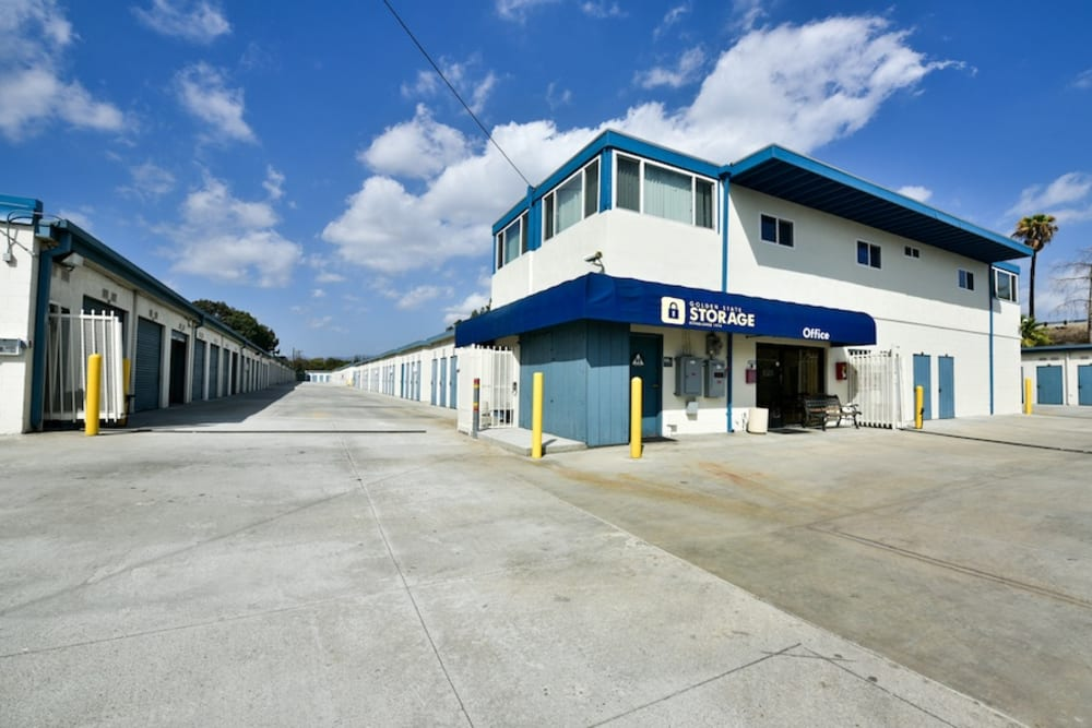 Office entrance and driveway at our storage facility on Roscoe Boulevard in North Hills