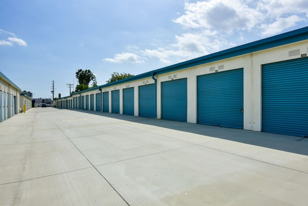 Large storage units at our facility on Roscoe Boulevard in North Hills