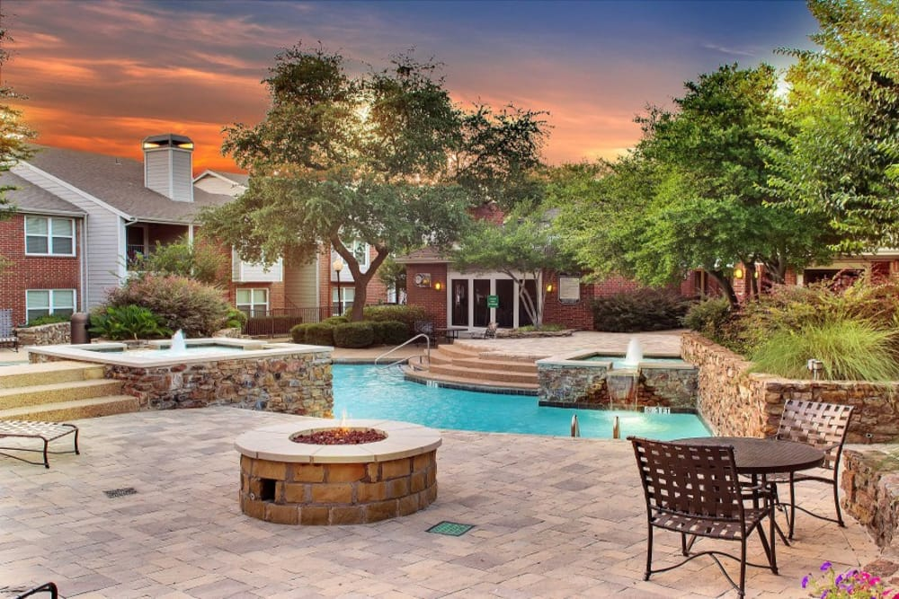 Swimming Pool at Fountains at Steeplechase Apartments in Plano, TX