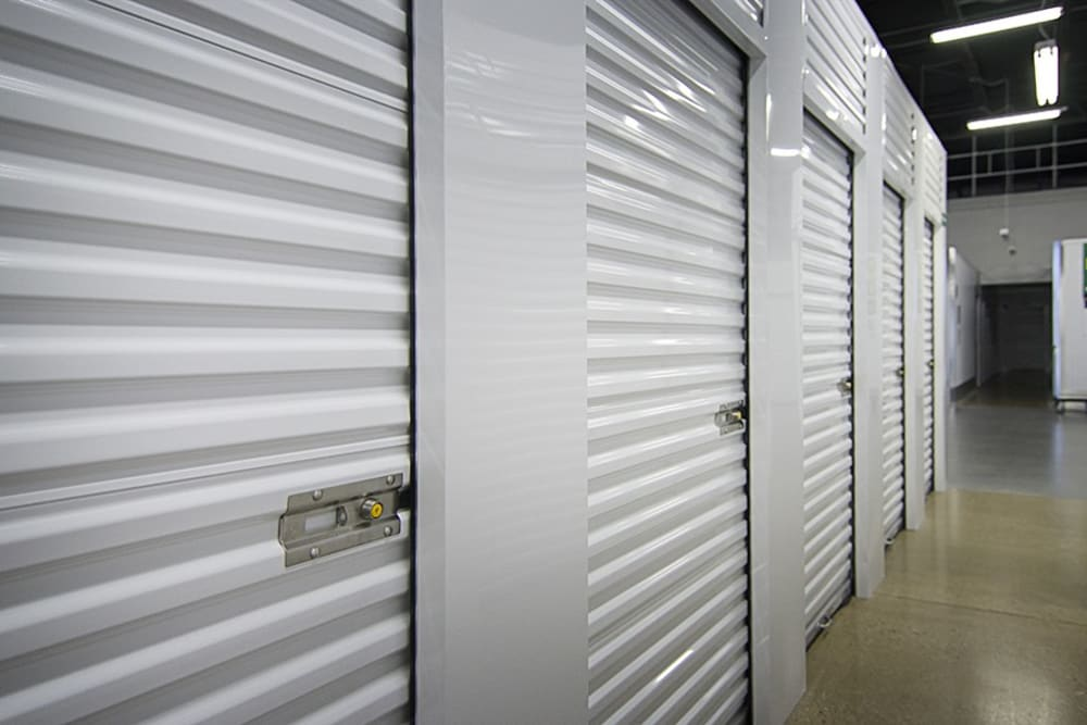 Metro Self Storage Interior Storage With White Doors