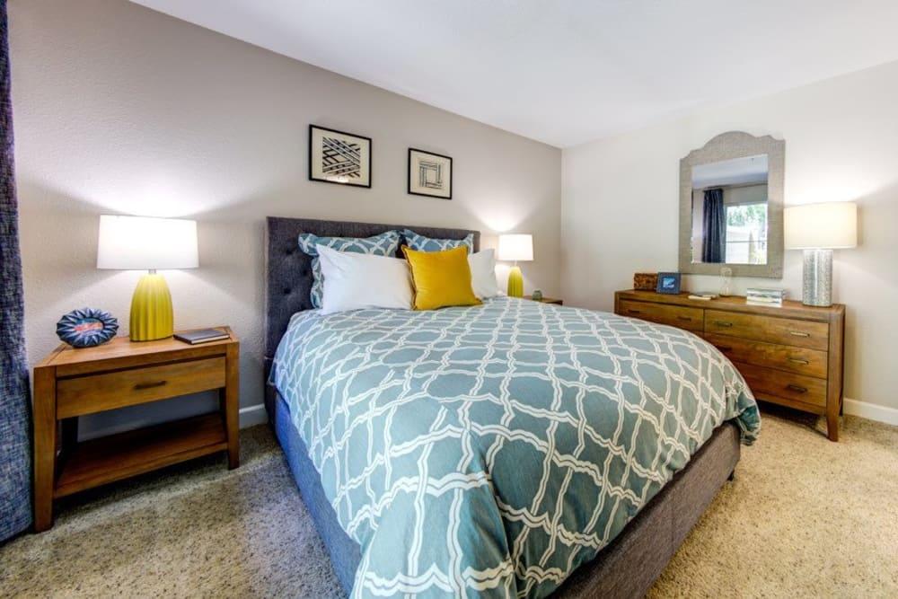 Beautiful bedroom at Sofi Sunnyvale in Sunnyvale, CA