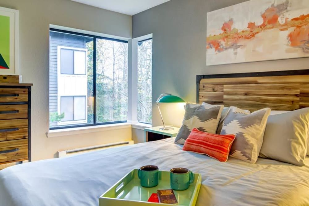 Spacious bedroom at Sofi at Somerset in Bellevue, WA