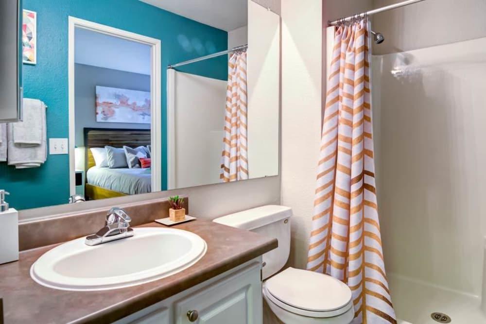 Bathroom at apartments in Bellevue, WA