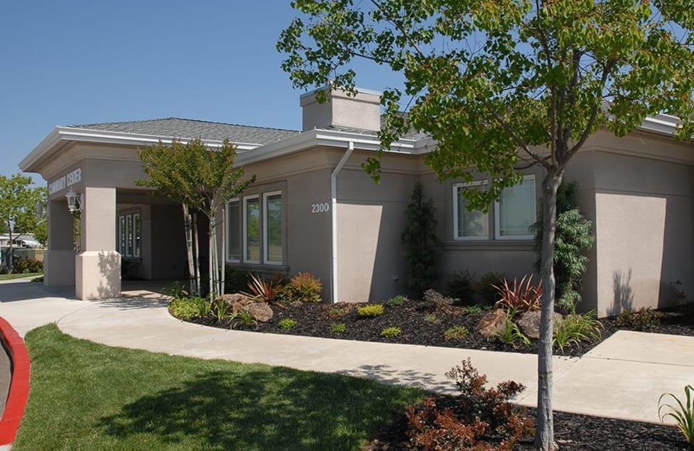 Entrance to Castle Vista Senior Duplex Community in Atwater, California