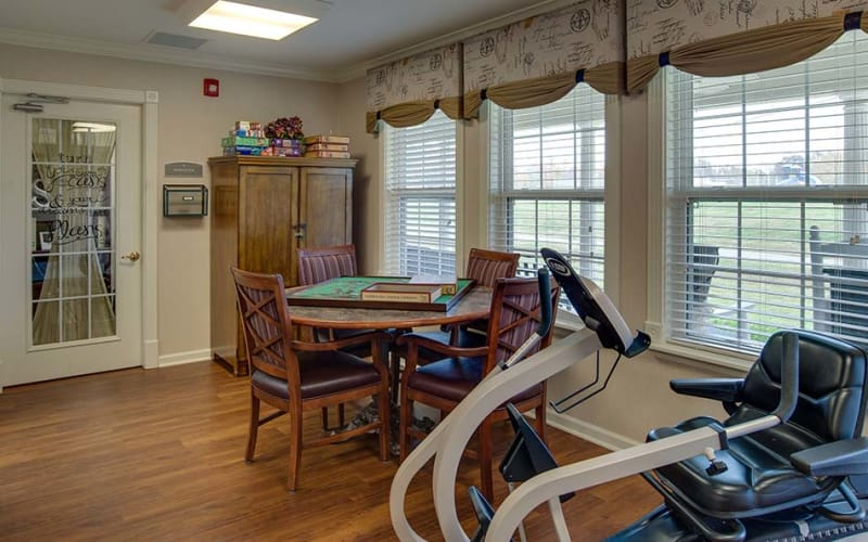 Wellness and activity center at Eiffel Gardens in Paris, Tennessee