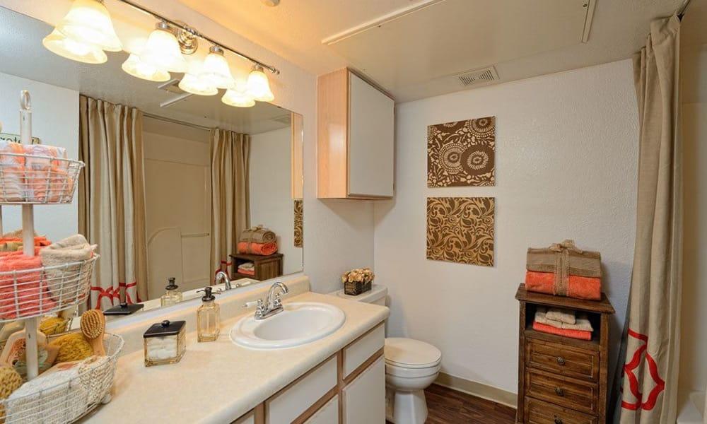 Bathroom at The Patriot Apartments in El Paso, Texas