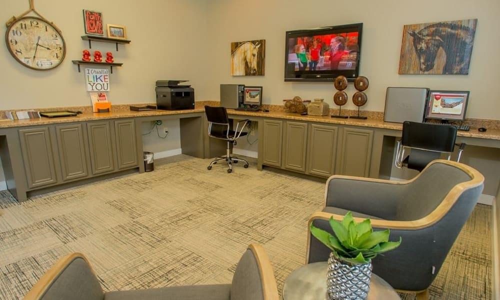 Business center at Nickel Creek Apartments in Tulsa, Oklahoma