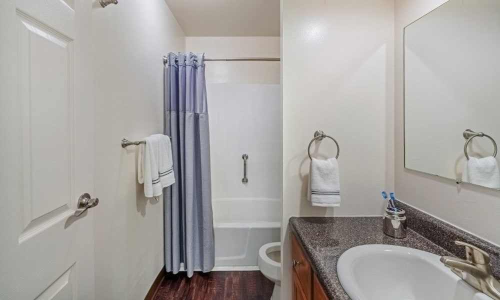 Bathroom at The Cascades Townhomes and Apartments in Pittsburgh