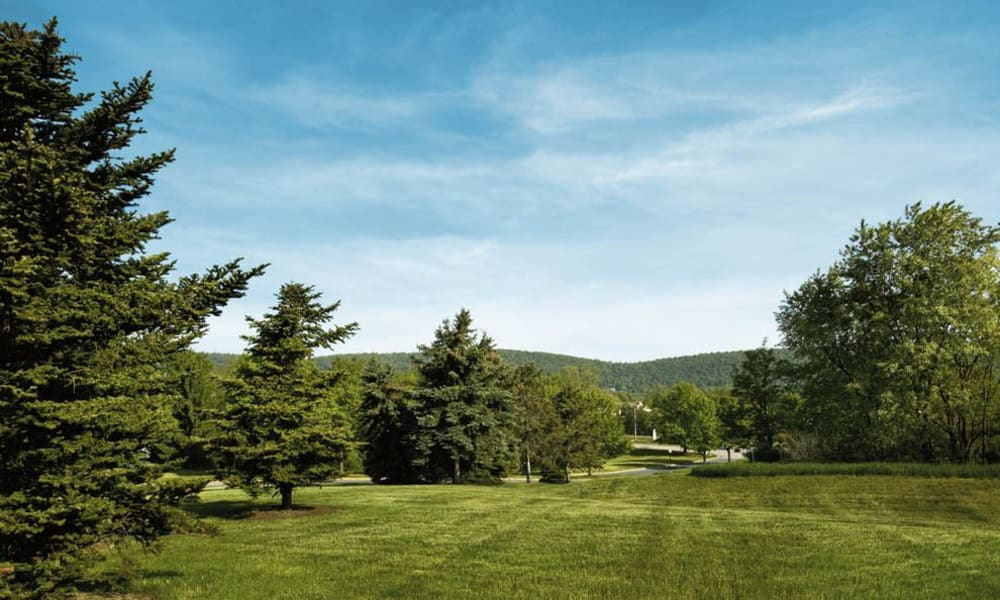 Park-like setting at The Village of Laurel Ridge in Harrisburg, Pennsylvania