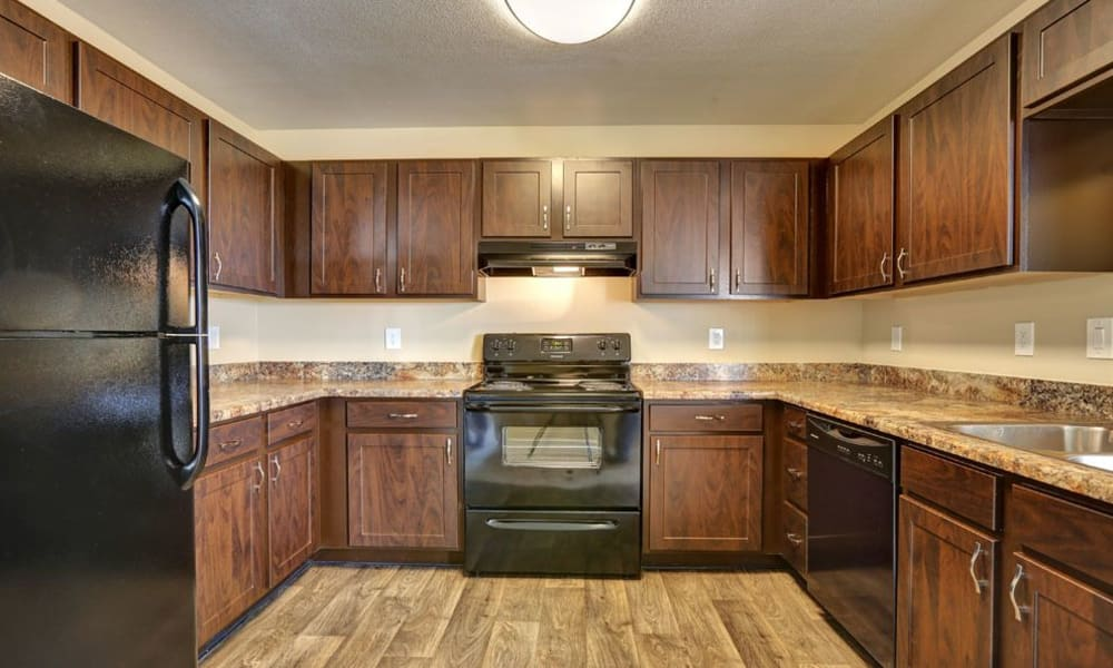 Belle Creek Apartments offers a luxury kitchen in Henderson, Colorado
