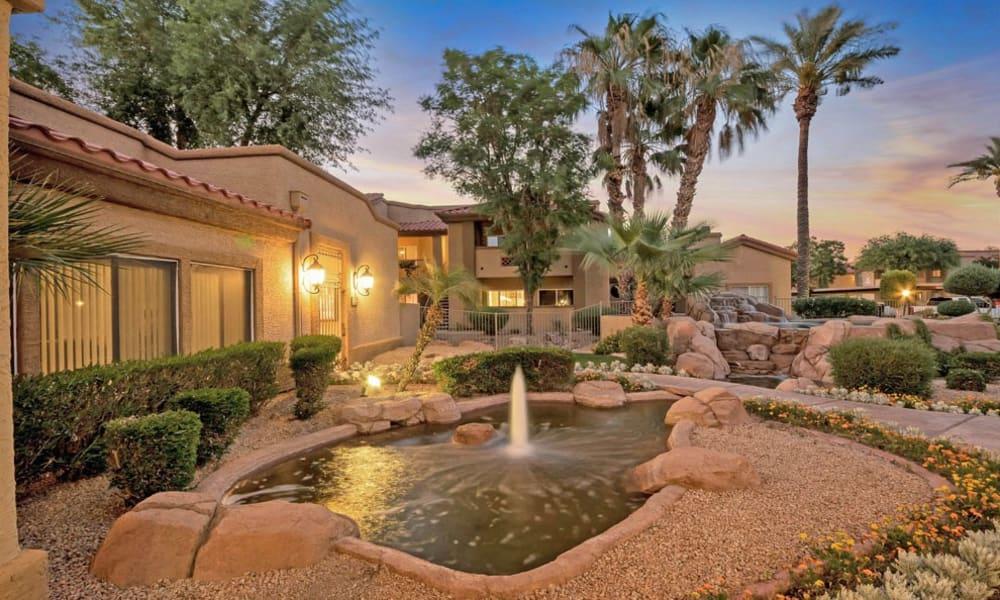 Water fountain At Tresa at Arrowhead Apartments In Glendale AZ