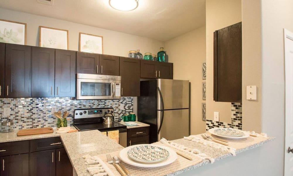 Beautiful kitchen at apartments in San Antonio, Texas