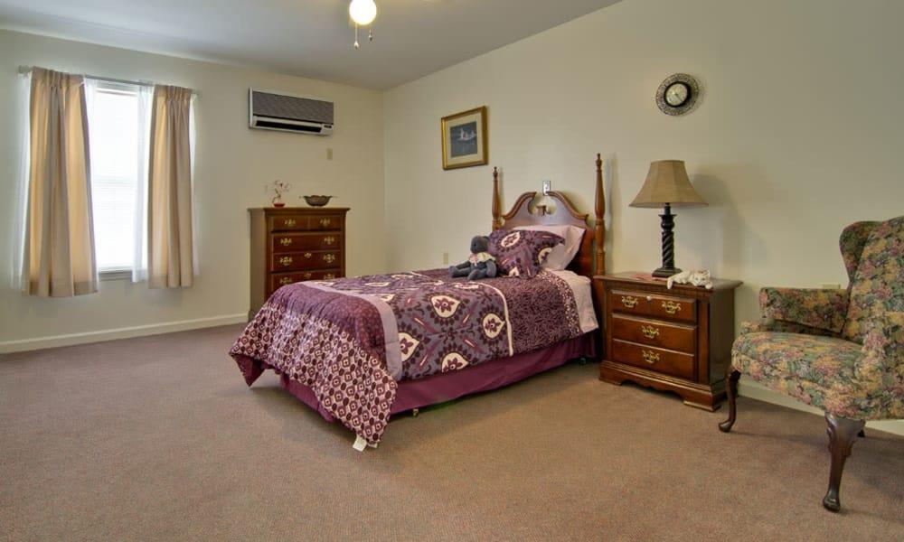 Cozy floor plan for assisted living residents at Highland Crest Senior Living in Kirksville, Missouri
