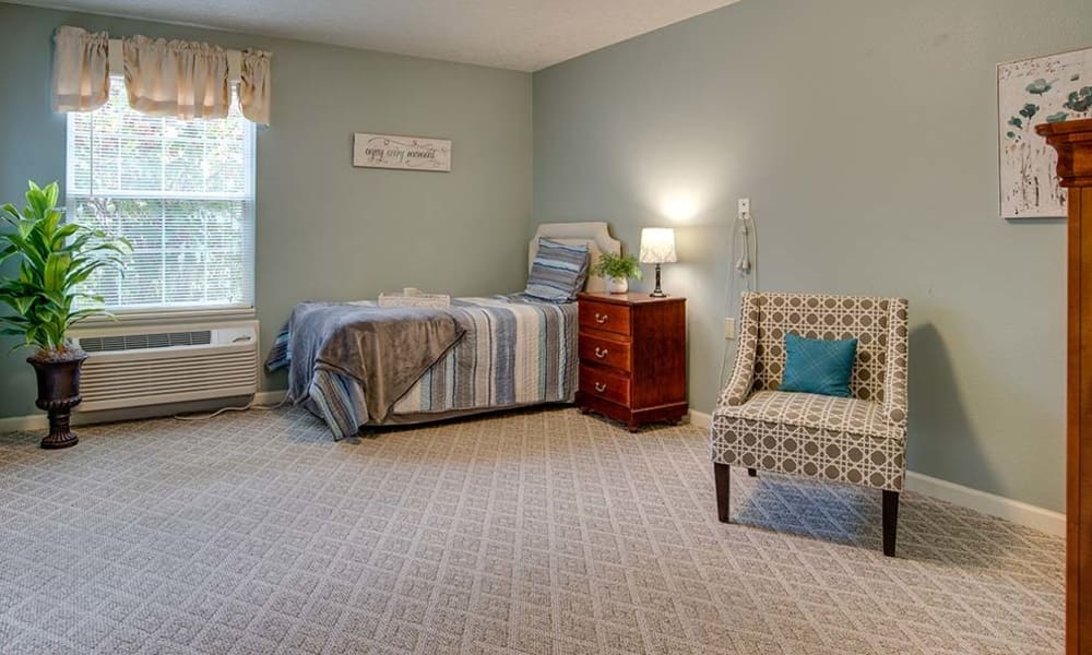 Cozy floor plan for assisted living residents at Lakewood Senior Living in Springfield, Missouri