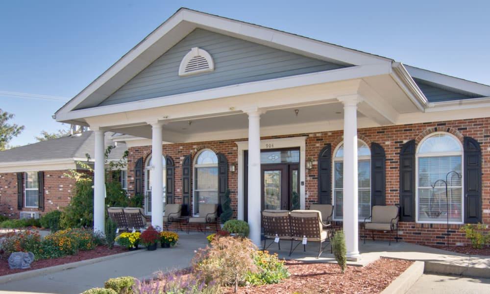 The administration building at Westport Estates Senior Living in Marshall, Missouri