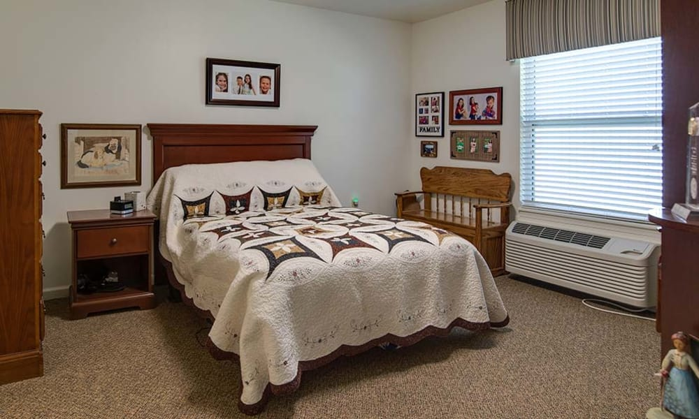 Cozy floor plan for assisted living residents at Carrington Place Senior Living in Pittsburg, Kansas