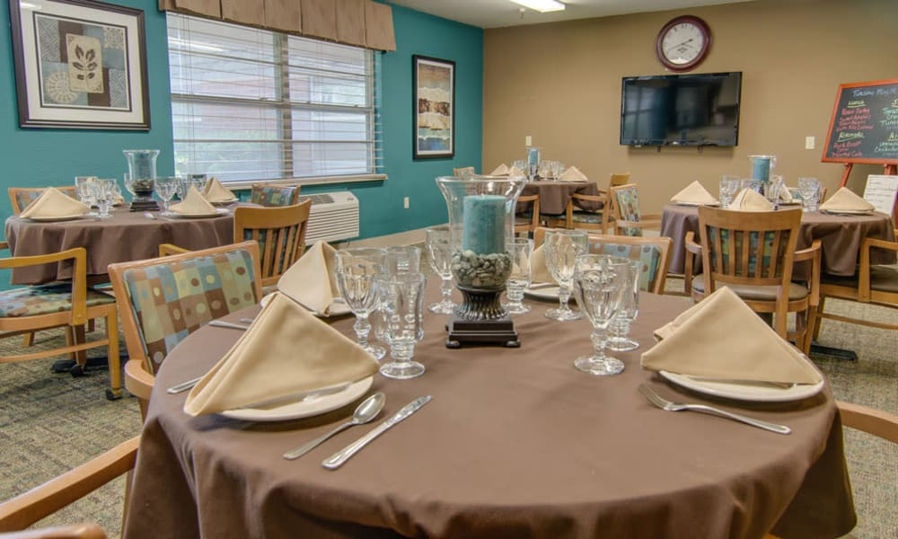 Dining area at the center of North Point in Paola, Kansas