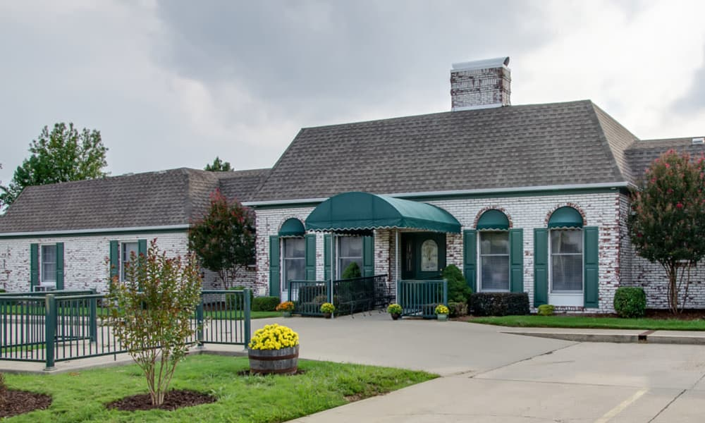 Entrance of The Arbors at WestRidge Place in Sikeston, Missouri