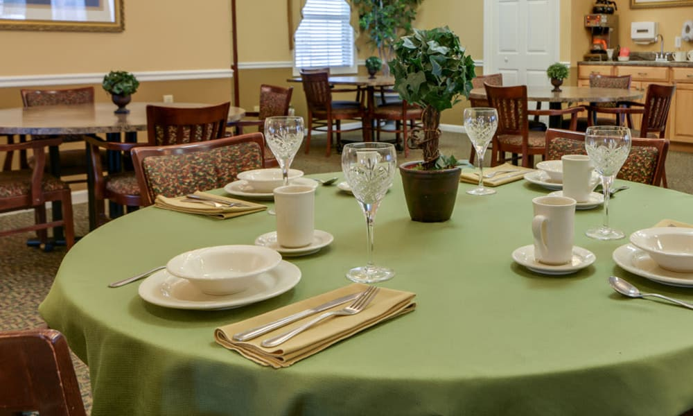 Table setting at The Arbors at WestRidge Place in Sikeston, Missouri