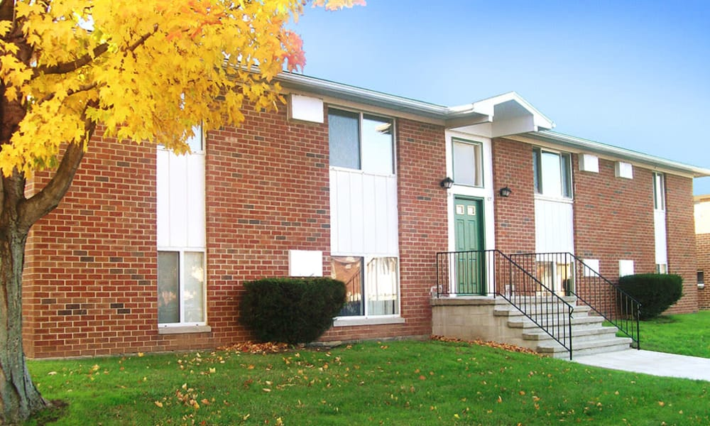Beautiful exteriors at Brockport Crossings Apartments & Townhomes in Brockport