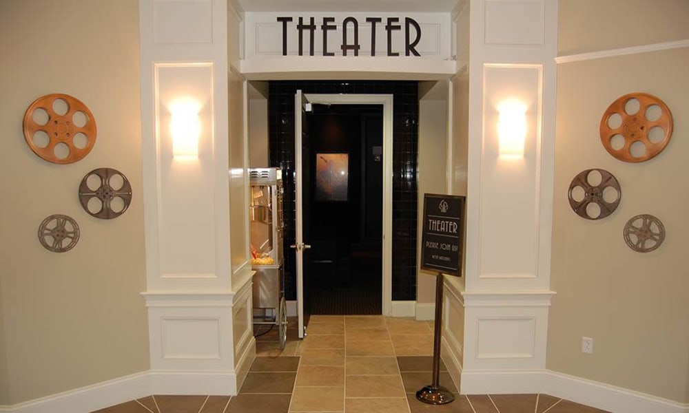 Theater at apartments in Toledo