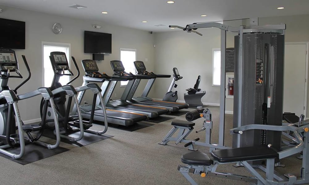 Keep fit in our well equipped fitness center at The Encore at Laurel Ridge