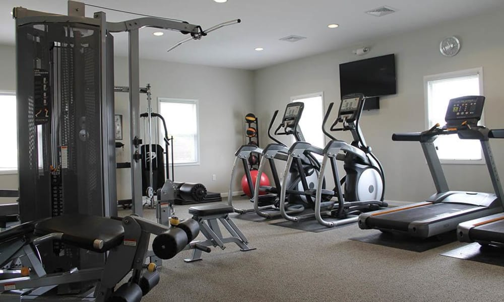 Fitness center at The Encore at Laurel Ridge