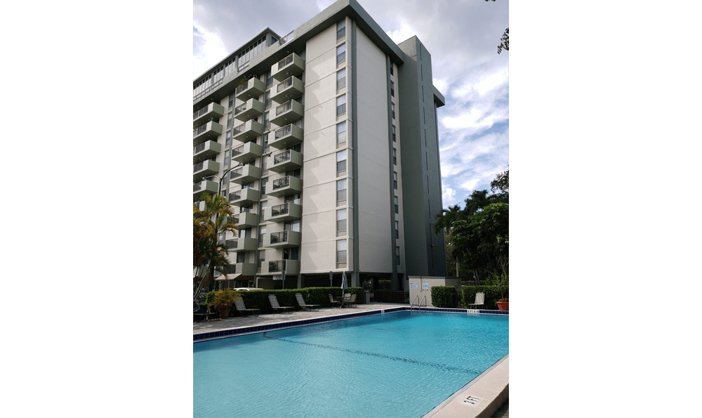 Another view of the resort-style pool at Forest Place Apartments in North Miami.