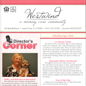 February Westwind Memory Care Newsletter