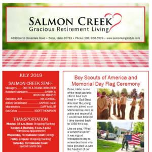 July Salmon Creek Newsletter
