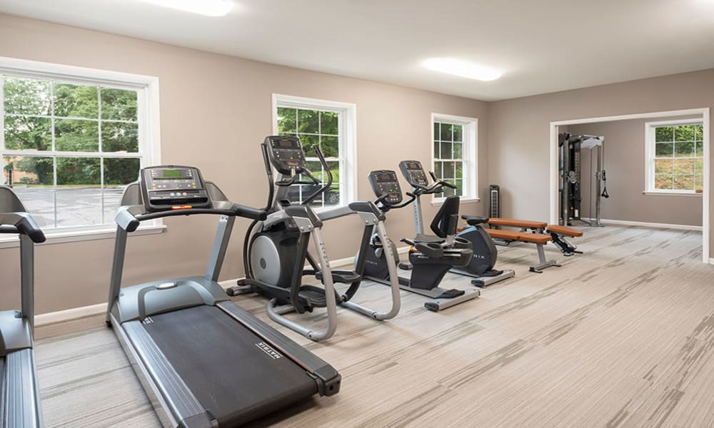 Fitness center at Eagle's Crest Apartments in Harrisburg, PA
